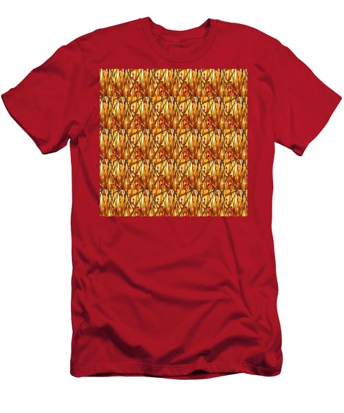 Men's T-Shirt (Slim Fit) featuring the photograph Gold Strand Sparkle Decorations by Navin Joshi