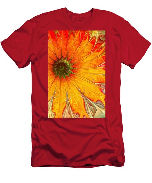Golden Gazania Men's T-Shirt (Athletic Fit)