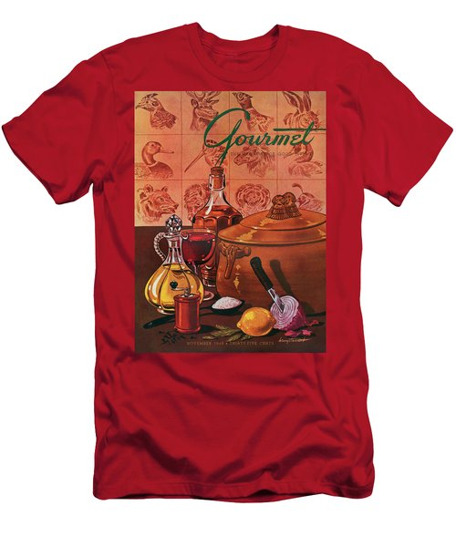 Gourmet Cover Featuring A Casserole Pot Men's T-Shirt (Athletic Fit)