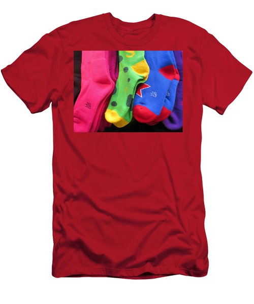 Men's T-Shirt (Athletic Fit) featuring the photograph Wear Loud Socks by Rick Locke