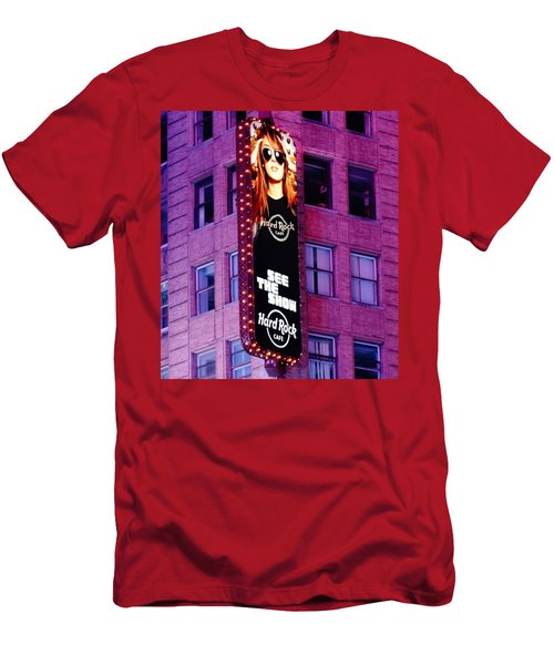 Hard Rock Cafe In New York City Men's T-Shirt (Athletic Fit)