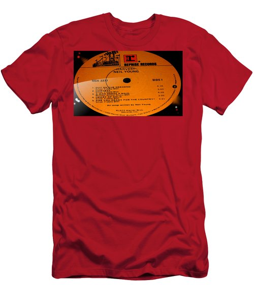 Harvest - Neil Young Side 1 Men's T-Shirt (Slim Fit) by Marcello Cicchini