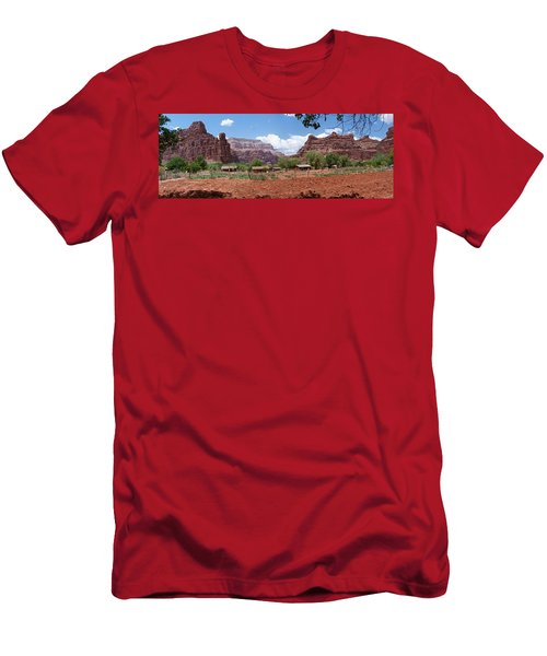 Men's T-Shirt (Slim Fit) featuring the photograph Havasupai Village Panorama by Alan Socolik