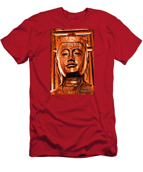 Head Of The Buddha Men's T-Shirt (Athletic Fit)