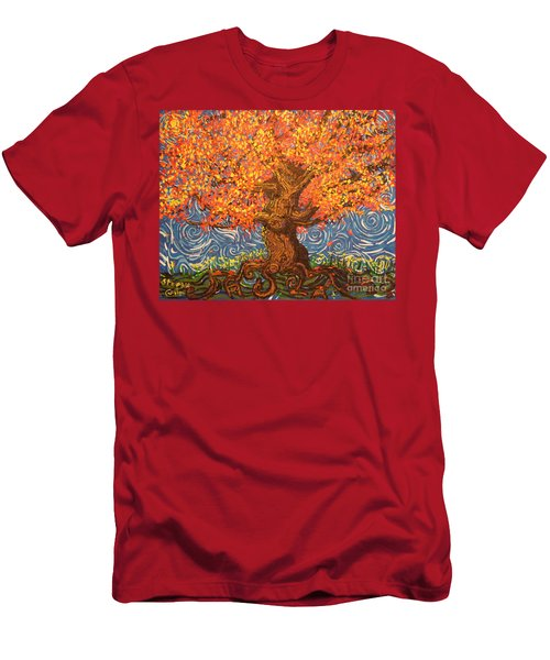Healthy At Home Tree Men's T-Shirt (Athletic Fit)