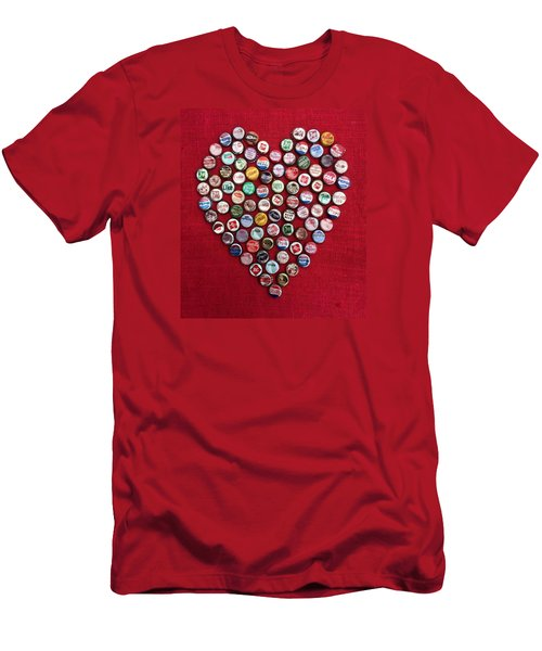 Heart Pop Men's T-Shirt (Athletic Fit)