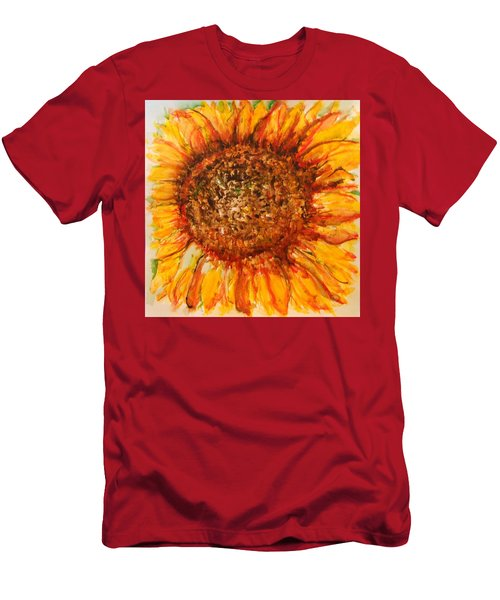 Hello Sunflower Men's T-Shirt (Athletic Fit)