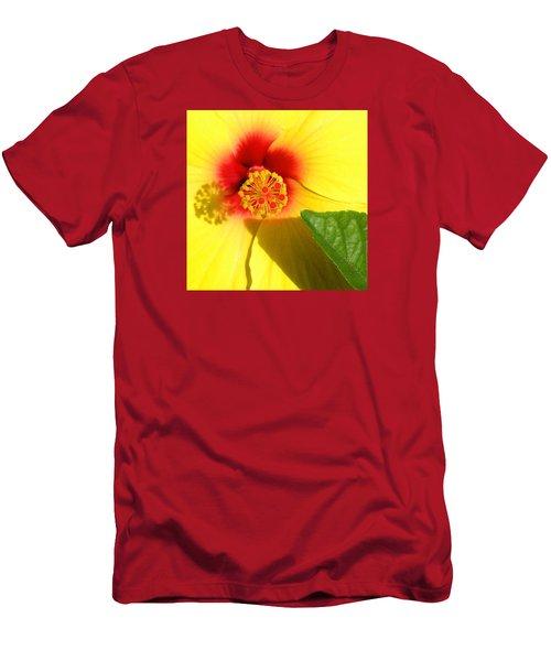 Hibiscus Shadows Men's T-Shirt (Athletic Fit)