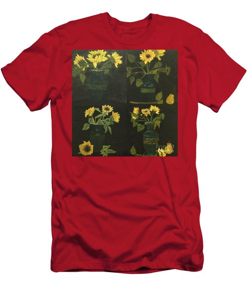 Men's T-Shirt (Slim Fit) featuring the painting Hirasol by Vanessa Palomino