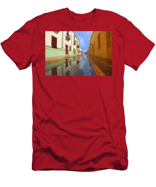 Historic Campeche Mexico  Men's T-Shirt (Athletic Fit)