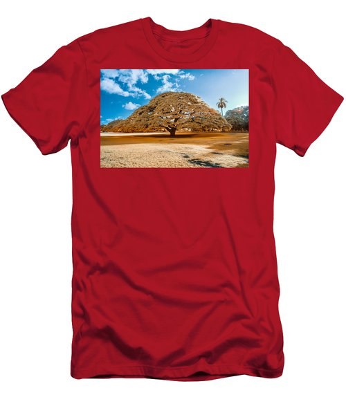 Hitachi Tree In Infrared Men's T-Shirt (Athletic Fit)