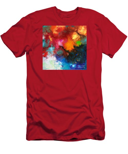 Holding The High Watch Canvas Three Men's T-Shirt (Slim Fit) by Sally Trace