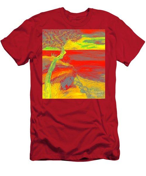 Horizon Men's T-Shirt (Slim Fit) by Loredana Messina