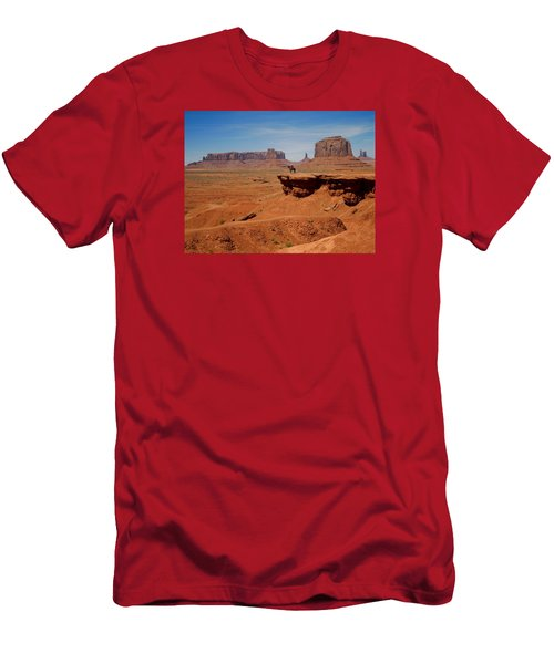 Horse And Rider In Monument Valley Men's T-Shirt (Athletic Fit)