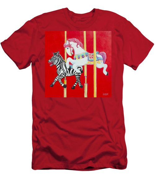 Horse And Zebra Carousel Men's T-Shirt (Athletic Fit)