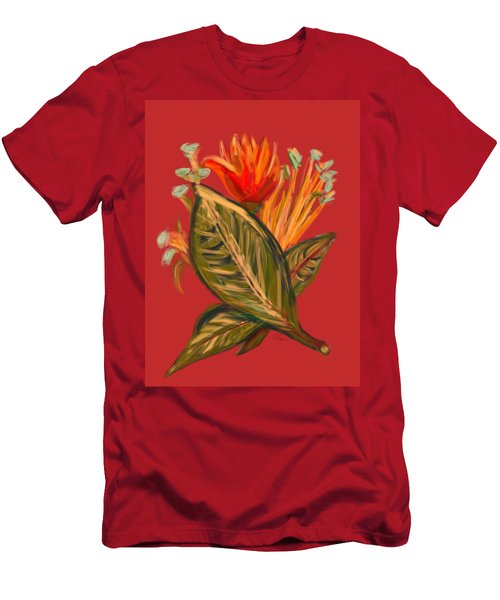 Men's T-Shirt (Slim Fit) featuring the digital art Hot Tulip L by Christine Fournier