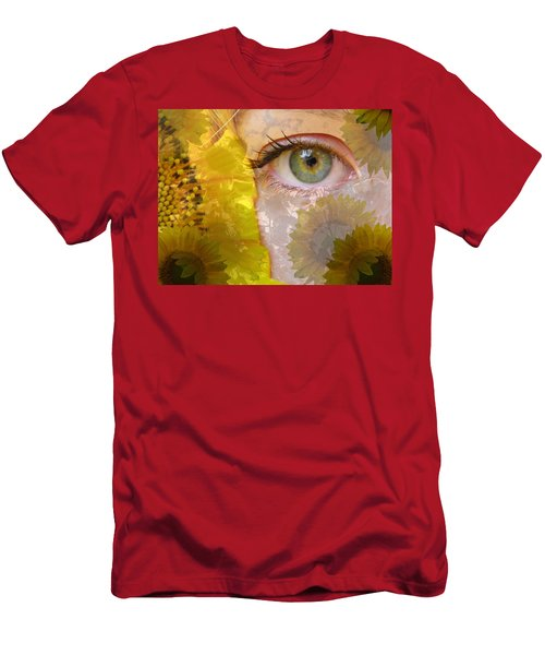I See Sunflowers Men's T-Shirt (Athletic Fit)