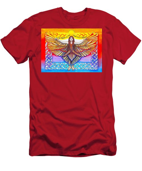 In The Shadow Of Thy Wings Psalms Men's T-Shirt (Athletic Fit)