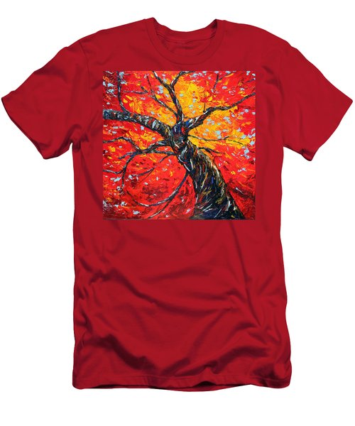 Men's T-Shirt (Slim Fit) featuring the painting In Your Light by Meaghan Troup