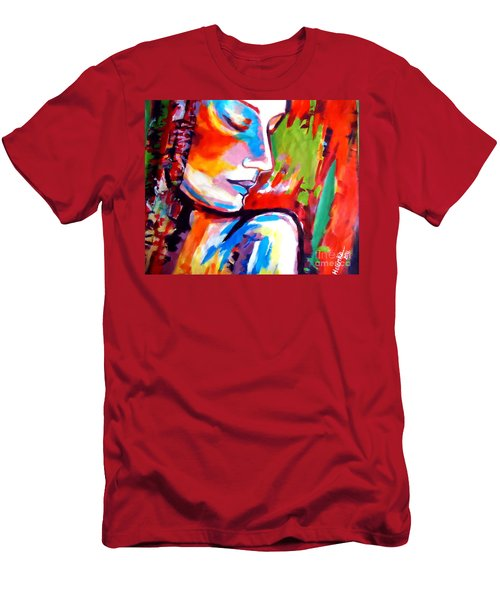 Men's T-Shirt (Slim Fit) featuring the painting Insight by Helena Wierzbicki