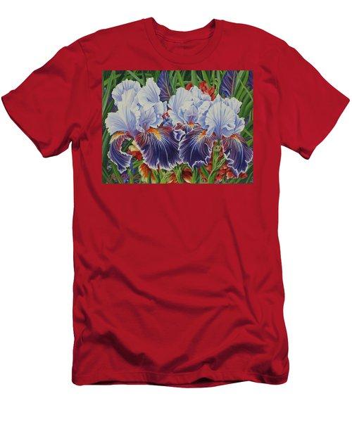 Iris Blooms Men's T-Shirt (Athletic Fit)