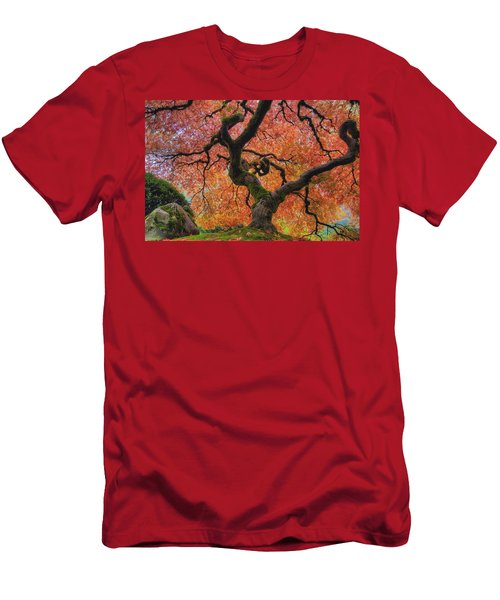 Japanese Maple Tree In Fall Men's T-Shirt (Athletic Fit)