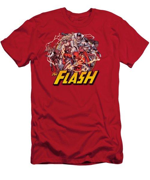 Jla - Flash Family Men's T-Shirt (Athletic Fit)