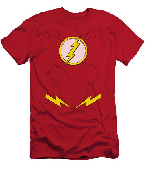 Jla - New Flash Costume Men's T-Shirt (Athletic Fit)