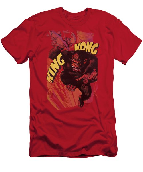 King Kong - Plane Grab Men's T-Shirt (Slim Fit) by Brand A