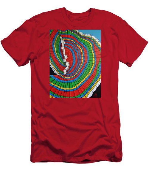 Men's T-Shirt (Slim Fit) featuring the painting La Falda Girando - The Spinning Skirt by Katherine Young-Beck