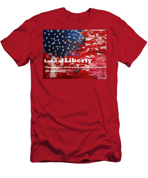 Land Of Liberty Print Men's T-Shirt (Athletic Fit)
