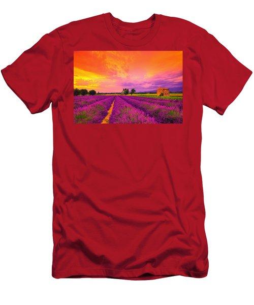 Lavender Sunset Men's T-Shirt (Athletic Fit)