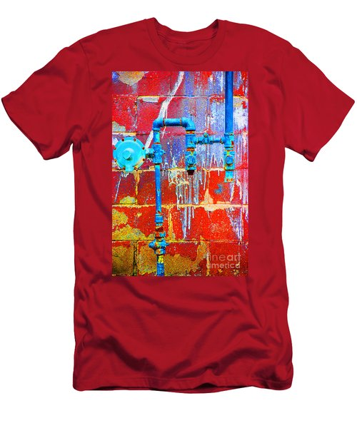 Men's T-Shirt (Slim Fit) featuring the photograph Leaky Faucet by Christiane Hellner-OBrien