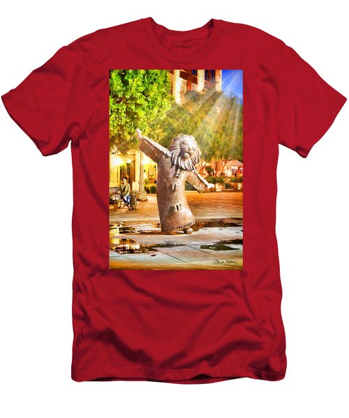 Lion Fountain Men's T-Shirt (Athletic Fit)