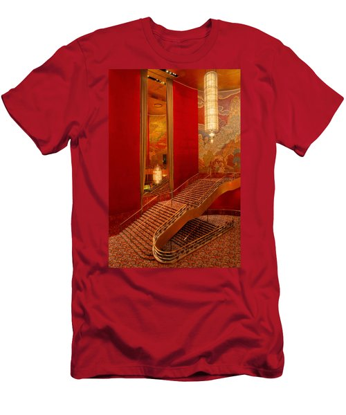 Lobby Stairs At Radio City Men's T-Shirt (Athletic Fit)