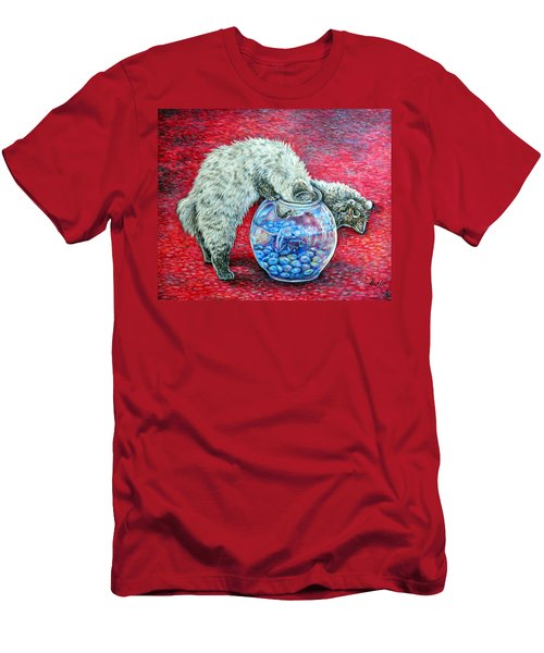 Lookin For Some Betta Kissin Men's T-Shirt (Slim Fit) by Gail Butler