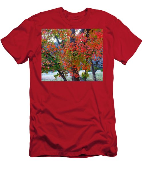 Lost Maples Fall Foliage Men's T-Shirt (Athletic Fit)
