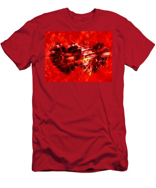 Men's T-Shirt (Slim Fit) featuring the photograph Love Opening by Kathy Bassett