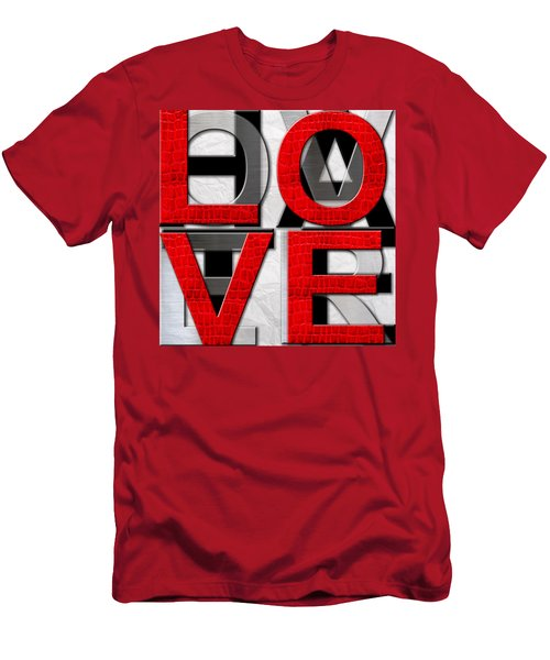 Love Over Hate Men's T-Shirt (Athletic Fit)