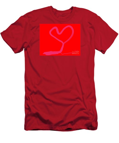 Men's T-Shirt (Slim Fit) featuring the painting Love Tree by Go Van Kampen
