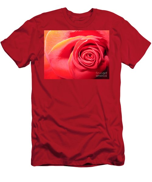 Luminous Red Rose 1 Men's T-Shirt (Athletic Fit)