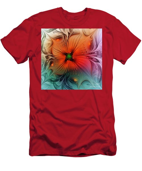 Luxury Blossom Dressed In Velvet And Silk Men's T-Shirt (Athletic Fit)