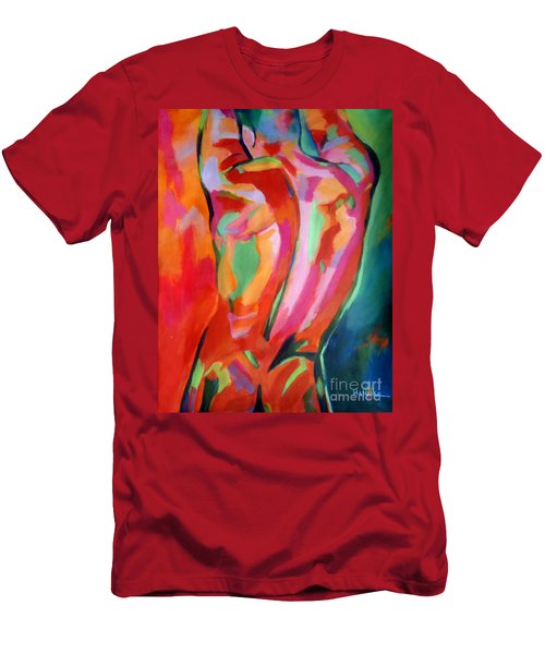 Male Figure Men's T-Shirt (Slim Fit) by Helena Wierzbicki