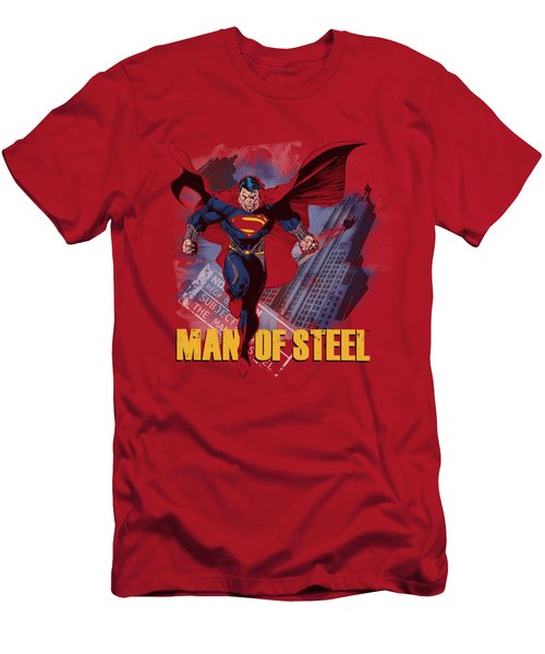 Man Of Steel - Fly By Men's T-Shirt (Athletic Fit)