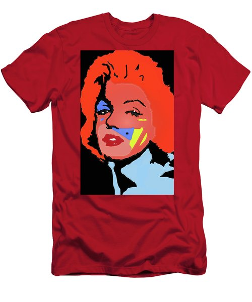 Marilyn Monroe In Color Men's T-Shirt (Athletic Fit)