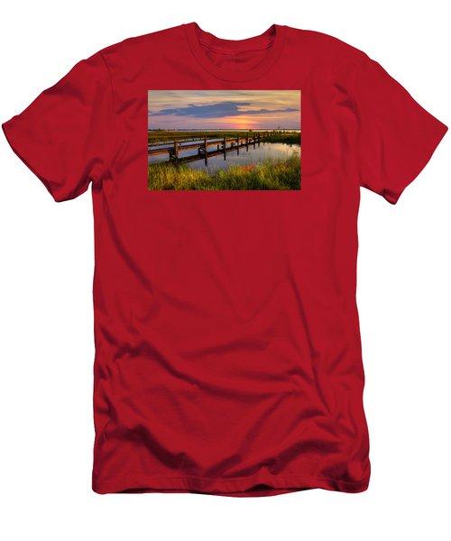 Marsh Harbor Men's T-Shirt (Slim Fit) by Debra and Dave Vanderlaan