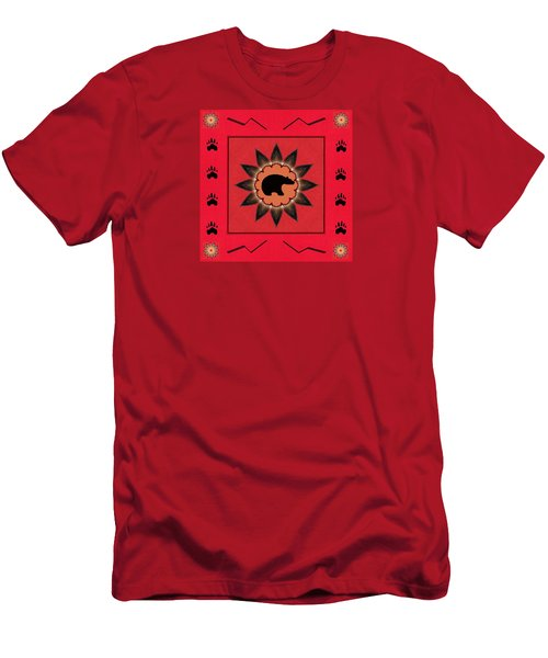 Men's T-Shirt (Slim Fit) featuring the photograph Mato Wakan . . Sacred Grizzly  by I'ina Van Lawick