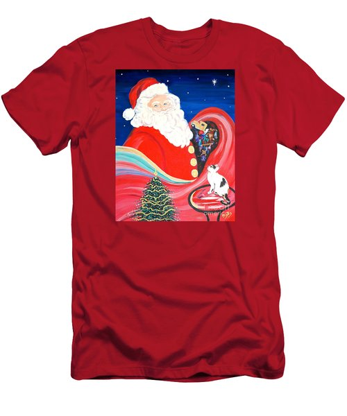 Merry Christmas To All Men's T-Shirt (Slim Fit) by Phyllis Kaltenbach