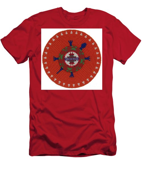 Meskwaki Orange Men's T-Shirt (Athletic Fit)