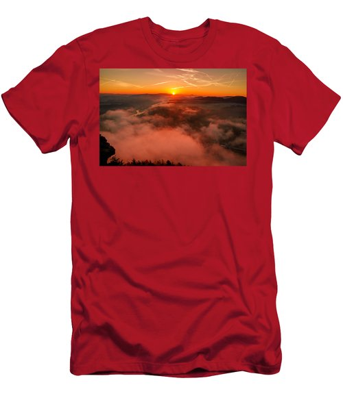 Misty Sunrise On The Lilienstein Men's T-Shirt (Athletic Fit)